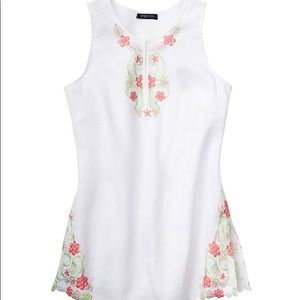 Etcetera White linen embroidered tunic Size 8🌸🌺